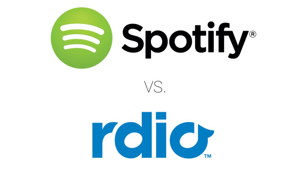 En jämförelse mellan musiktjänsterna Spotify och Rdio