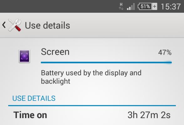 Batteritidsindikation, Z3 Compact