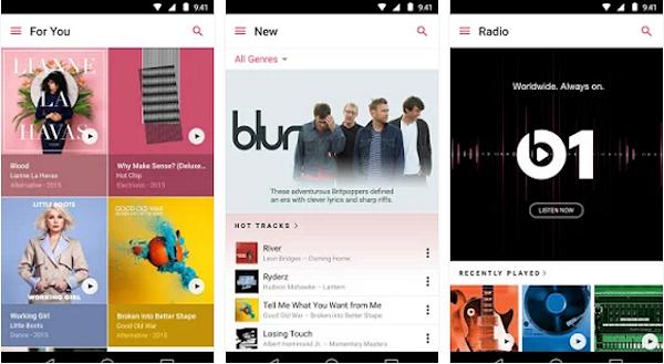 Apple Music läggs till Tres fria musikströmning