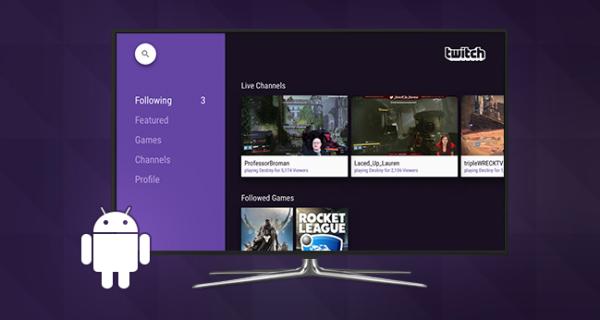 Twitch släpps för Android TV