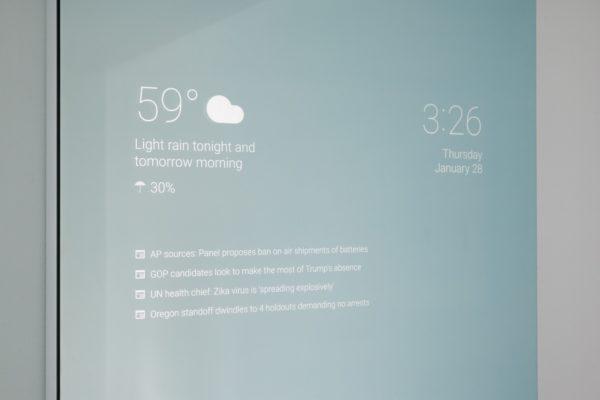 Google-ingenjör bygger intelligent badrumsspegel