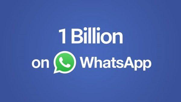 Både WhatsApp och Gmail når en miljard aktiva användare
