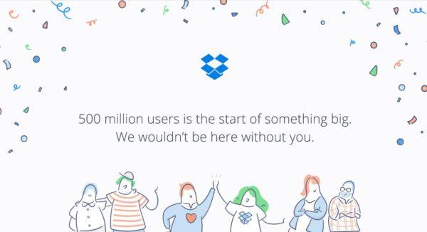Dropbox har nu 500 miljoner användare