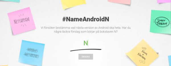 Google låter användarna förseslå namnet på Android N