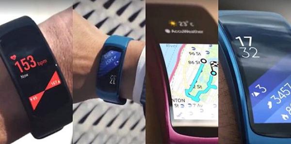 Fler bilder på aktivitetsarmbandet Samsung Gear Fit 2