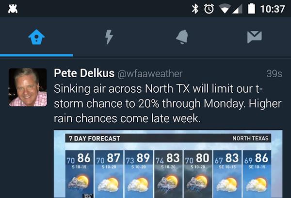 Officiella Twitter-appen ser ut att få mörkt tema