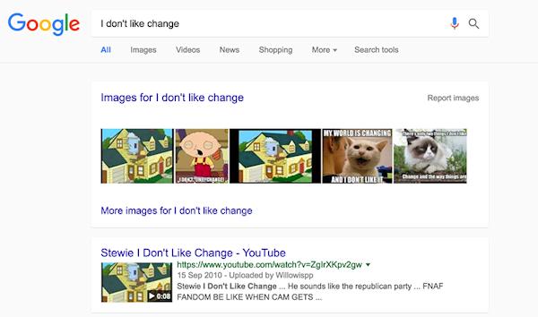 Google arbetar på finputsad design för sökmotorn