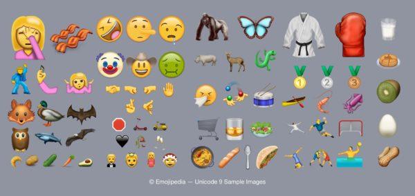 Alla 72 nya emojis i Unicode 9.0