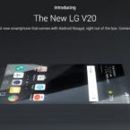 LG gör reklam för Nougat-telefonen V20 på Twitter