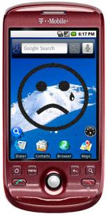 Sad MyTouch 3G