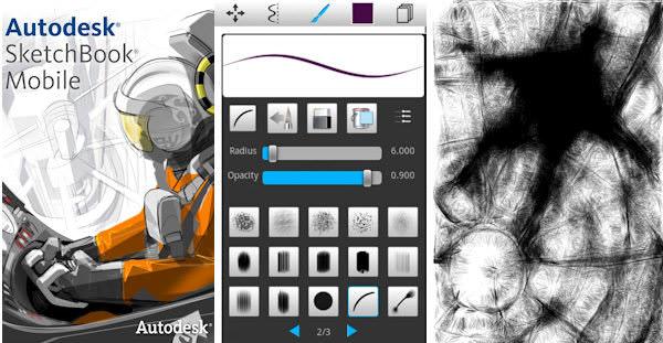 Två bra ritappar i Market: SketchBook och Sketcher