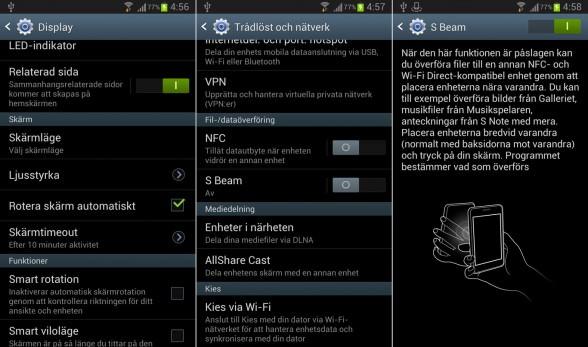 Galaxy Note II wireless and network