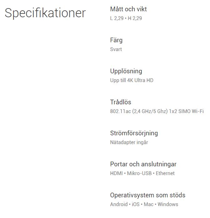 chromecast-ultra-specs - Swedroid