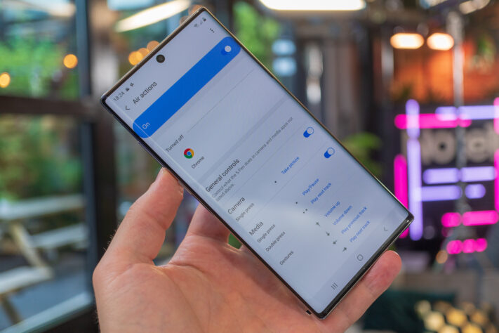 Galaxy Note 10+: S-pen air actions