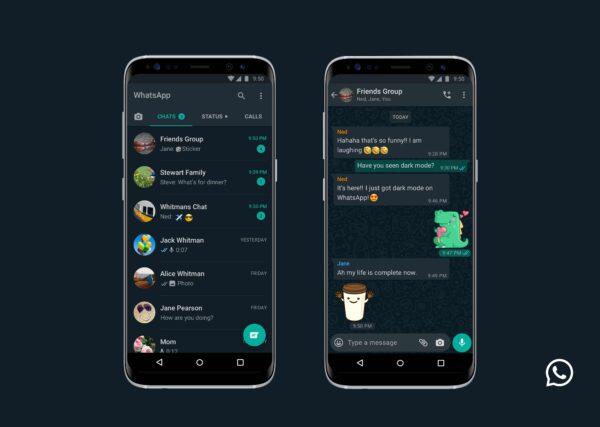 WhatsApp introducerar sitt mörka tema för Android och IOS