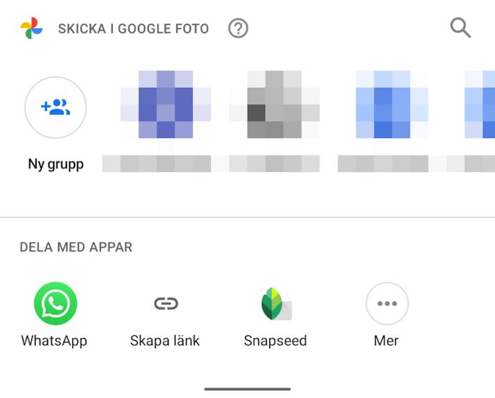 Google Photos får förbättrad delningsmeny