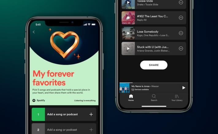 """Spotify lanserar funktionen """"mina eviga favoriter"""""""